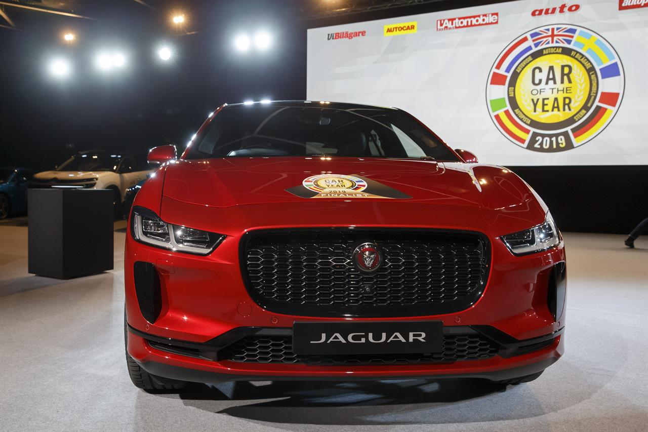 The Jaguar I Pace Model Was Elected Car Of Year 2019 Ahead 89th Geneva International Motor Show At Palexpo In Switzerland