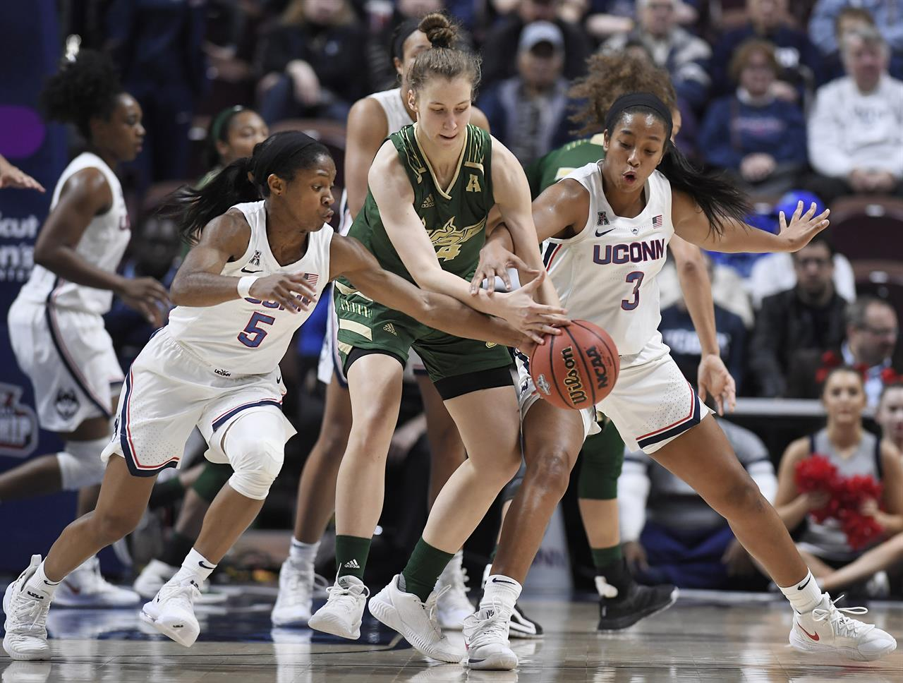 Walker, Collier lead UConn to rout of USF in AAC semifinals   AM