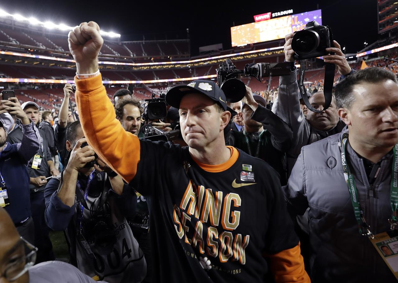 Clemson makes bid to be considered best team ever | 710 ...