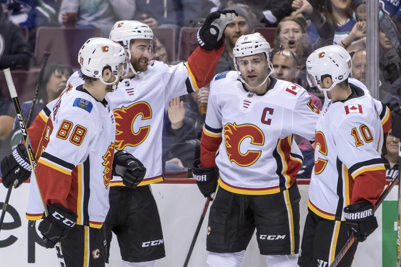 Giordano Leads Flames Past Canucks 3 1 Am 1070 The Answer