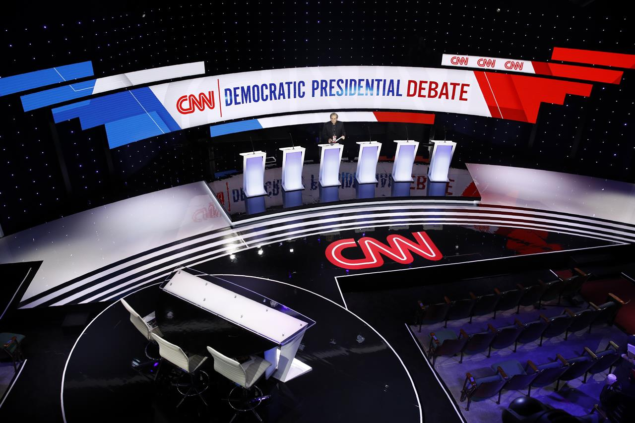 The Latest: Democratic debate ends with talk of hope for '20
