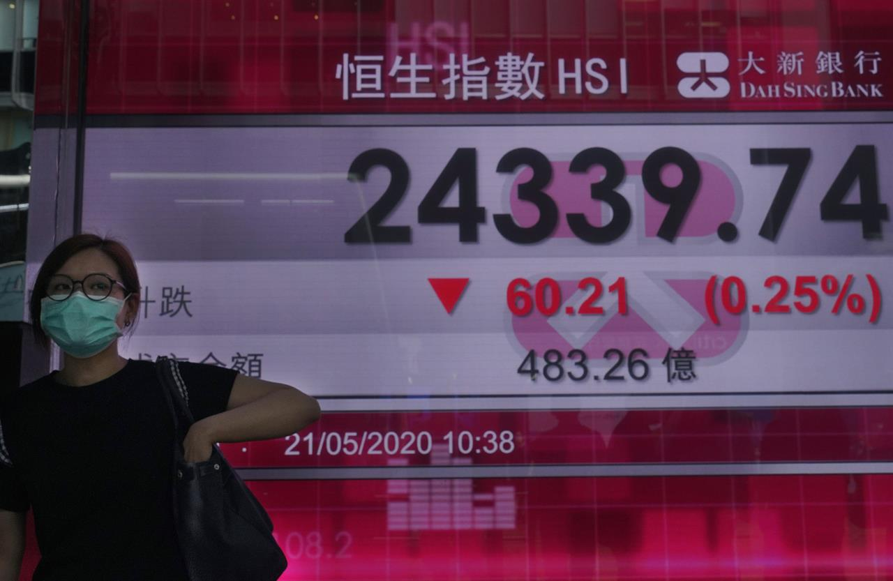 Asian stocks mixed amid China tension with US, Australia