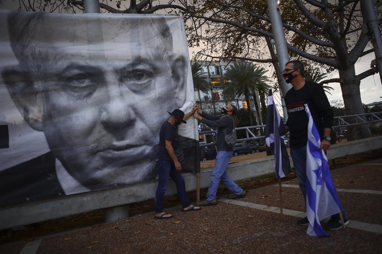 Israel's Netanyahu, unbeaten in elections, is going on trial