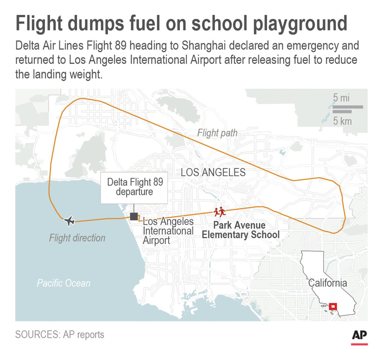Aviation experts puzzled after airliner dumps fuel over city