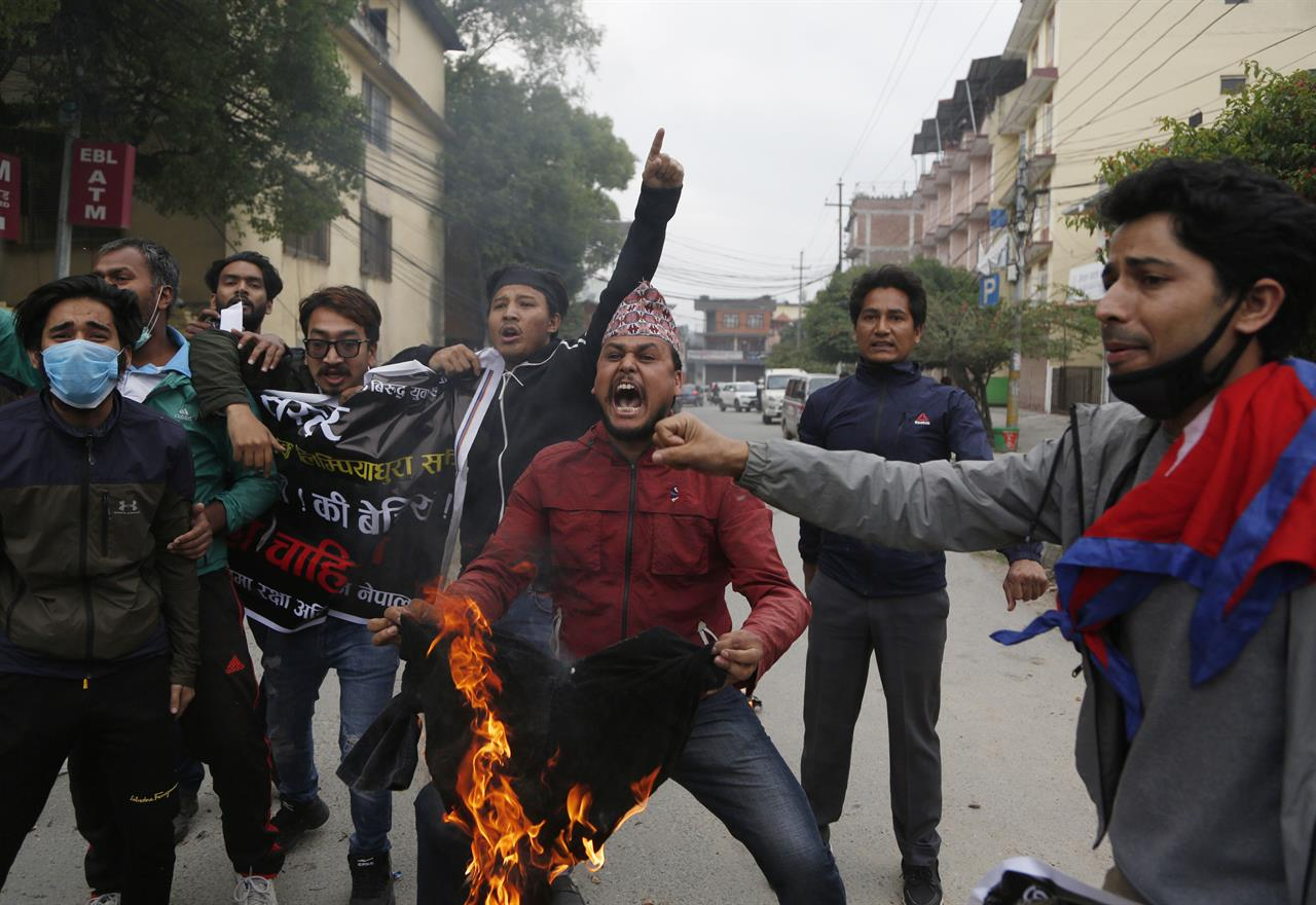 Nepal's parties show rare unity on border dispute with India