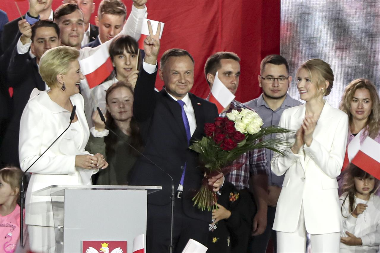 Polish president wins 2nd term after bitter campaign