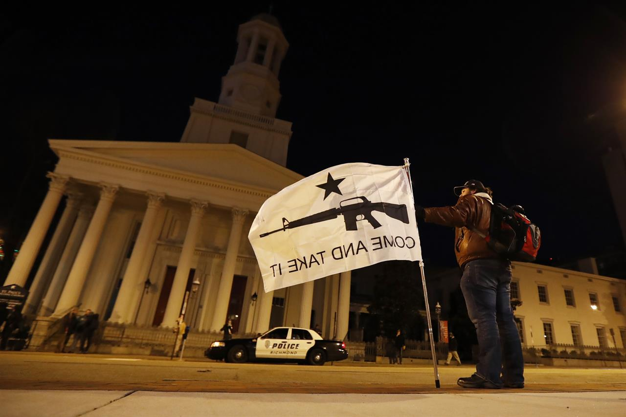 Pro-gun rally by thousands in Virginia ends peacefully