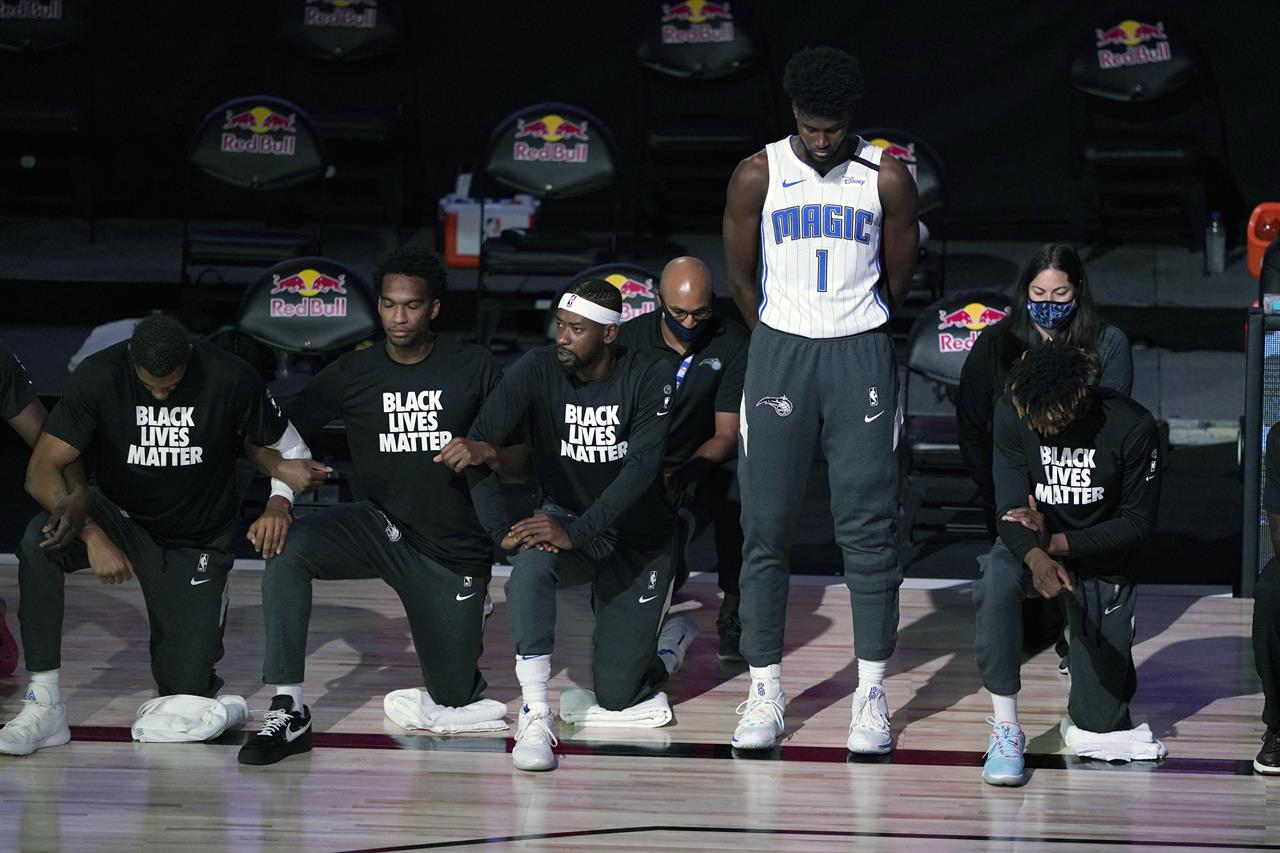 Popovich, Isaac choose to stand for anthem in NBA bubble