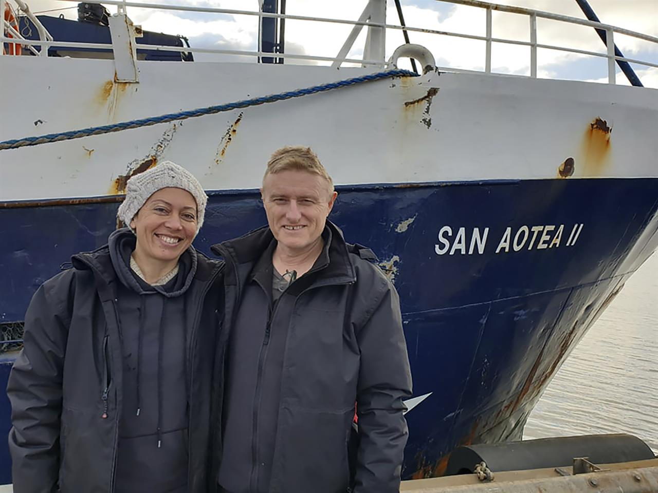 Stranded by virus, honeymooners hitch home on Antarctic boat