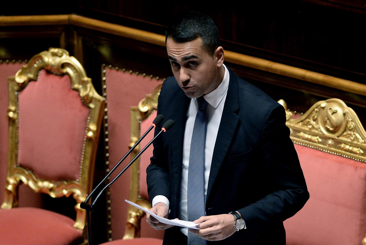 Italy's 5-Star leader Di Maio steps down as party struggles