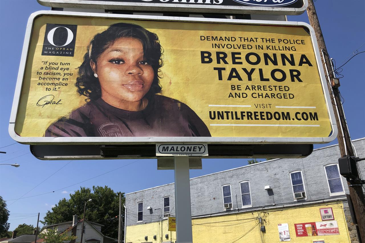 Winfrey demanding justice for Breonna Taylor with billboards