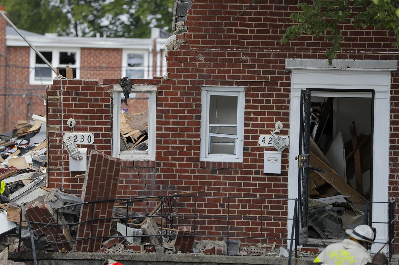 Survivor said she smelled gas before Baltimore explosion