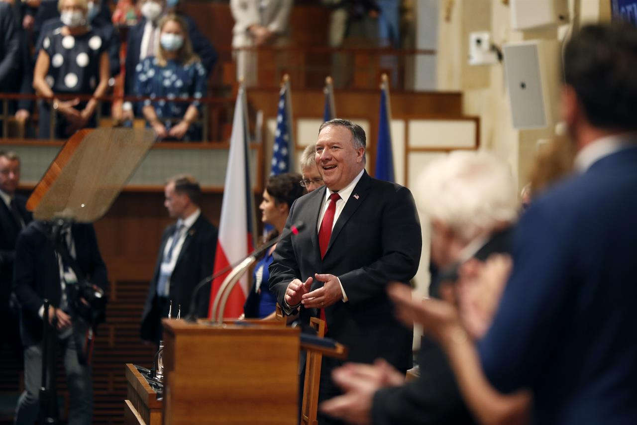 Pompeo urges Europe's young democracies to embrace freedoms