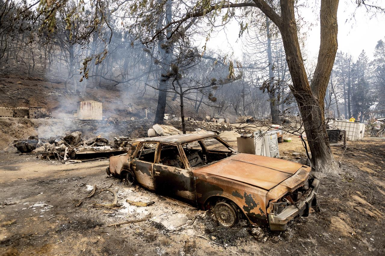 California wildfires burn amid high risk of brutal blazes