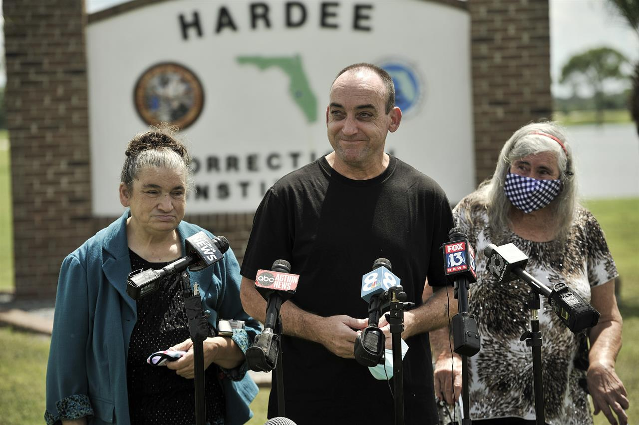 Jailed for 37 years, Florida man cleared of murder, rape