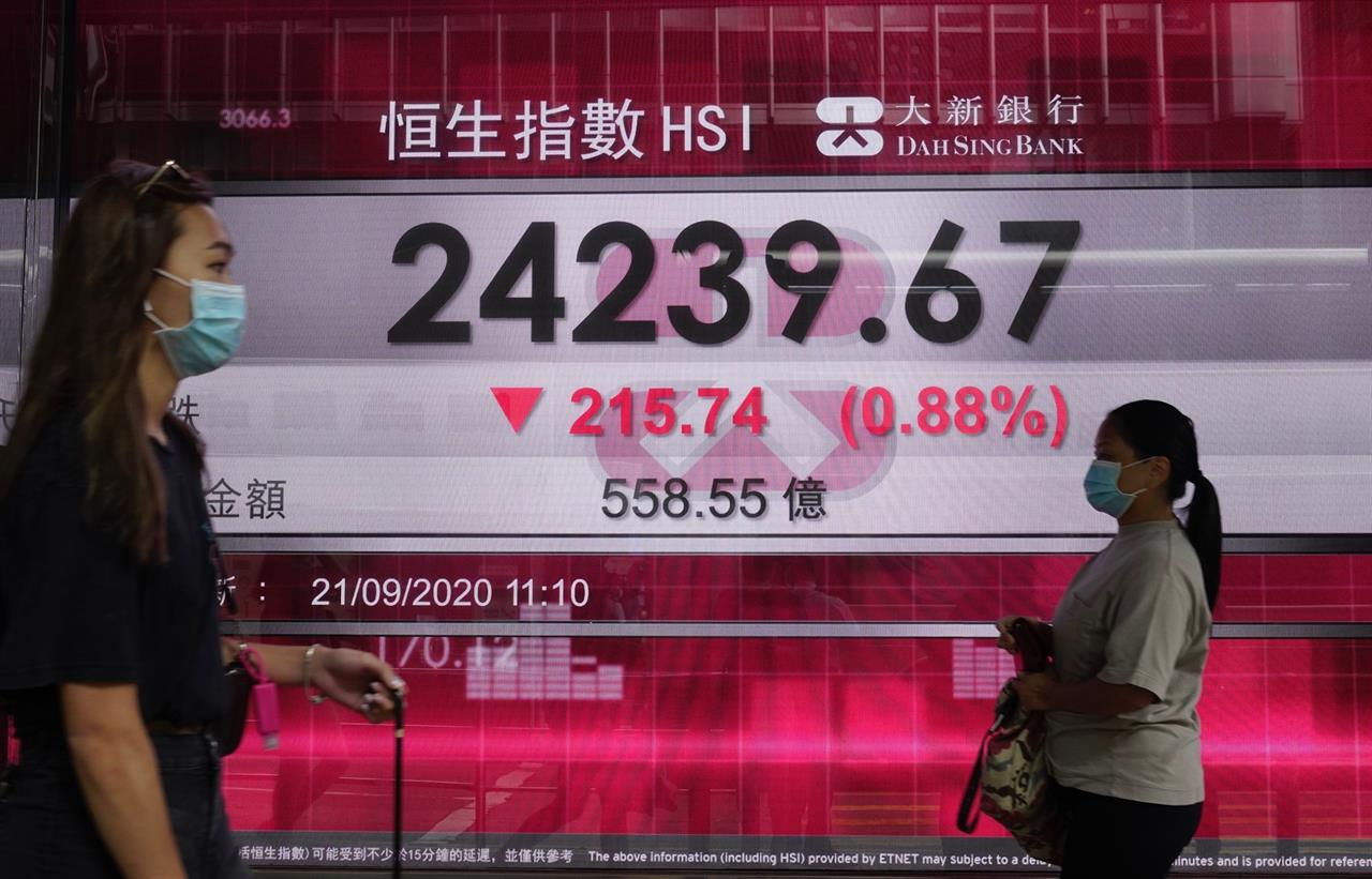Asian markets lower after Wall St declines for third week