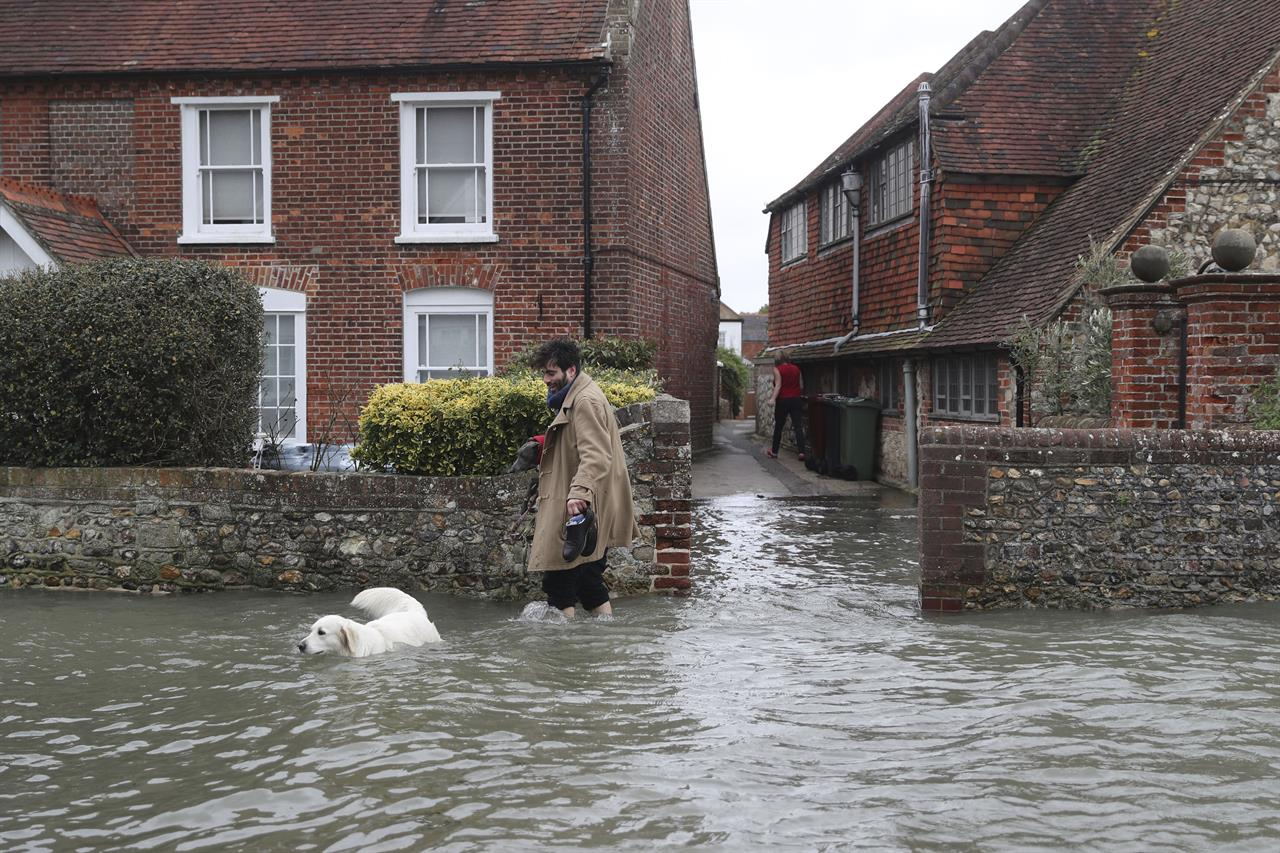 UK faces another fierce storm; 2 found dead in rough seas