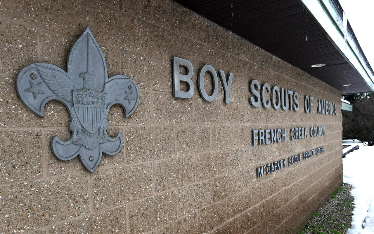 FILE - This Feb. 18, 2020, file photo shows the headquarters for the French Creek Council of the Boy Scouts of America in Summit Township in Erie County, Pa. The Boy Scouts of America filed a new bankruptcy reorganization plan late Tuesday, April 13, 2021, that increases the proposed contribution of local BSA councils to a trust fund for child sexual abuse victims but also includes the option of cutting the local councils out of the bankruptcy case and leaving them to face thousand of individual lawsuits. (Christopher Millette/Erie Times-News via AP, File)