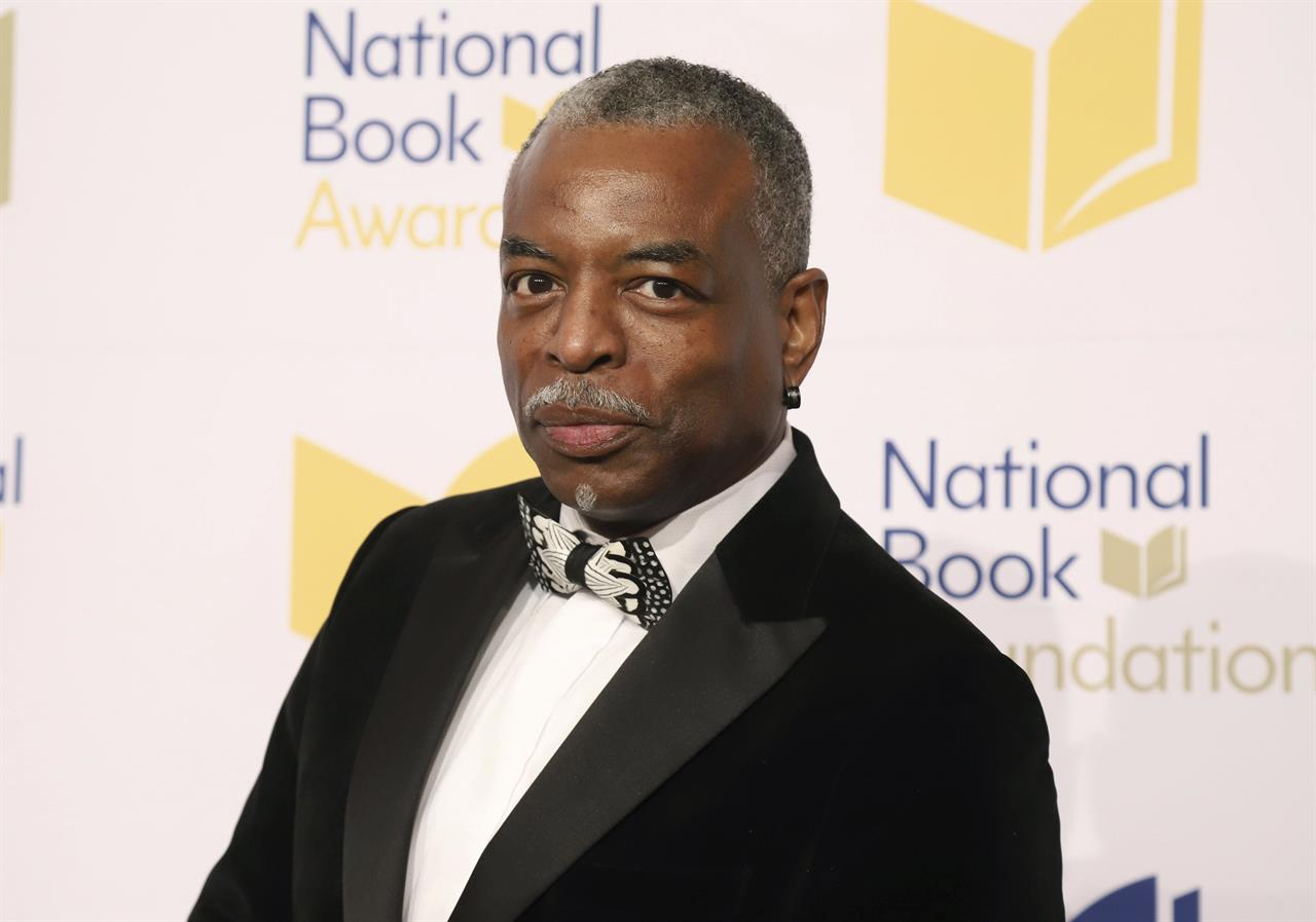 """FILE - LeVar Burton attends the 70th National Book Awards ceremony in New York on Nov. 20, 2019. Burton launched the LeVar Burton Book Club with the Fable app, described on its website as a means to discover, read and discuss books, and help foster """"human connections"""" and mental health.  (Photo by Greg Allen/Invision/AP, File)"""