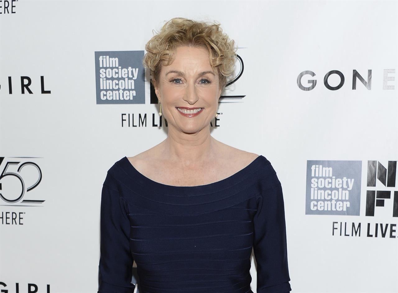 """FILE - Actress Lisa Banes attends the opening night gala world premiere of """"Gone Girl"""" during the 52nd New York Film Festival in New York on  Sept. 26, 2014,. The """"Gone Girl"""" and """"Cocktail"""" actor has died after being injured in a hit-and-run accident in New York. A police spokesperson says the 65-year-old Banes died Monday, June 15, 2021, at Mount Sinai Morningside Hospital. She was struck by a scooter or motorcycle while crossing a street on June 4. (Photo by Evan Agostini/Invision/AP, File)"""