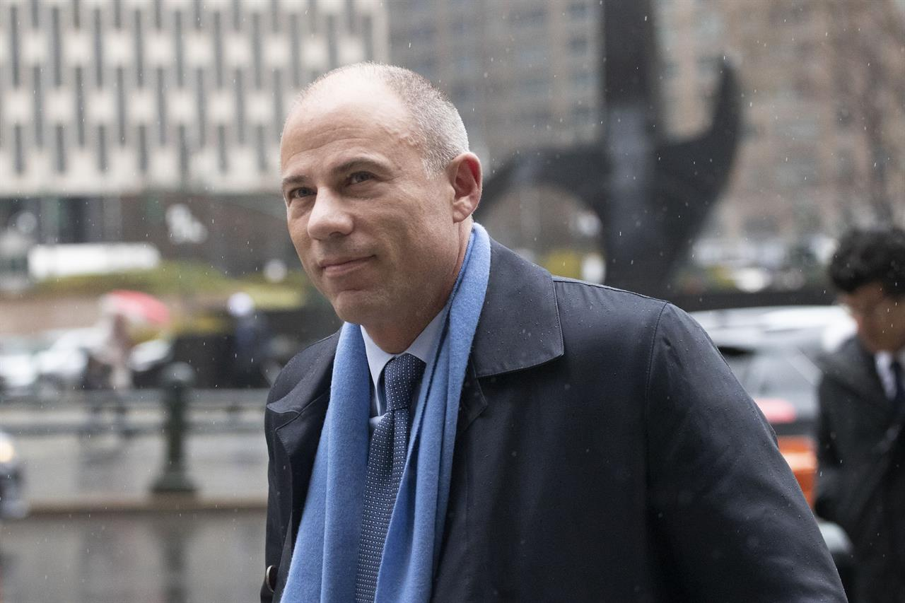 FILE - In this Dec. 17, 2019, file photo, attorney Michael Avenatti arrives at federal court in New York. Avenatti, the brash lawyer recently sentenced to 2 1/2 years in prison in a $25 million extortion case in New York, is expected to face a trial in California, Wednesday, July 21, 2021, on charges he embezzled millions from his clients. (AP Photo/Mark Lennihan, File)