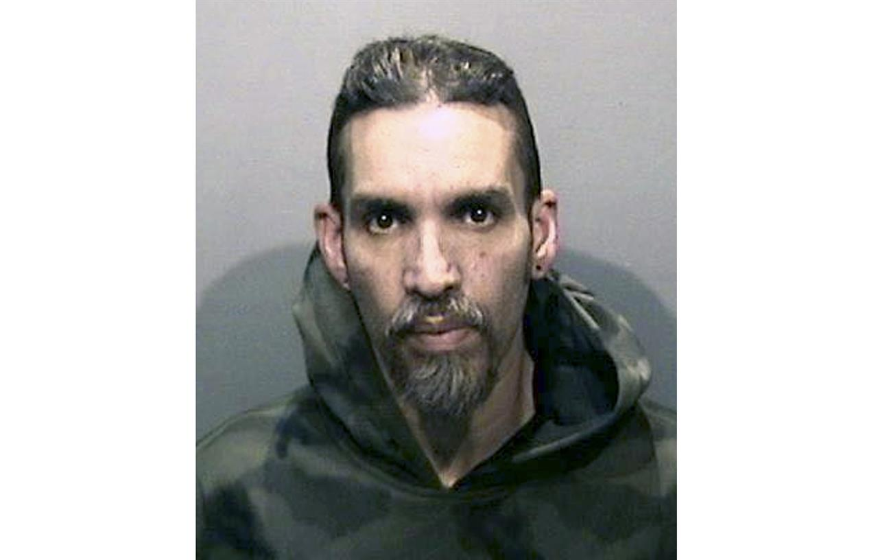 FILE - This June 5, 2017, file photo released by the Alameda County Sheriff's Office shows Derick Almena at Santa Rita Jail in Alameda County, Calif. Almena, who is facing a second trial after a 2016 fire killed 36 partygoers at a San Francisco Bay Area warehouse he's accused of illegally converting into a cluttered artists enclave, is expected to plead guilty later this month, relatives of several of the victims said. Almena, 50, is expected to plead guilty to 36 counts of involuntary manslaughter on Jan. 22, 2021. (Alameda County Sheriff's Office via AP, File)