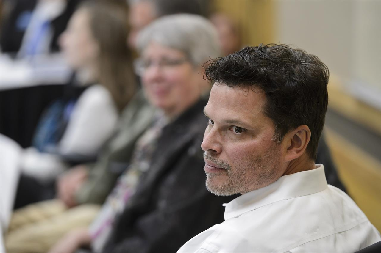 University of Alaska Board of Regents member Andy Teuber listens to a discussion during a meeting at UAA on Sept. 12, 2019, in Anchorage, Alaska. The U.S. Coast Guard is searching for an overdue helicopter piloted by Teuber who is the former head of the Alaska Native Tribal Health Consortium. Teuber had resigned last week after allegations of sexual misconduct surfaced against him which he denied. Teuber left Anchorage about 2 p.m. Tuesday, March 2, 2021, in a black and white Robinson R66 helicopter en route to Kodiak Island. (Marc Lester/Anchorage Daily News via AP)
