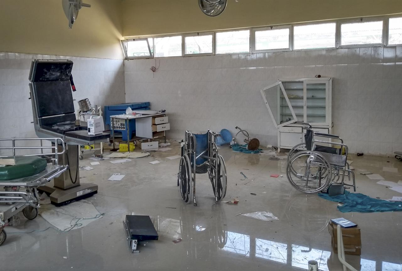 "A medical clinic that was looted and vandalized in Zana, is seen in the Tigray region of northern Ethiopia Tuesday, Feb. 9, 2021. The United Nations in its latest humanitarian report on the situation in Tigray says the ""humanitarian situation continues to deteriorate"" as fighting intensifies across the northern region. (Medecins Sans Frontieres via AP)"