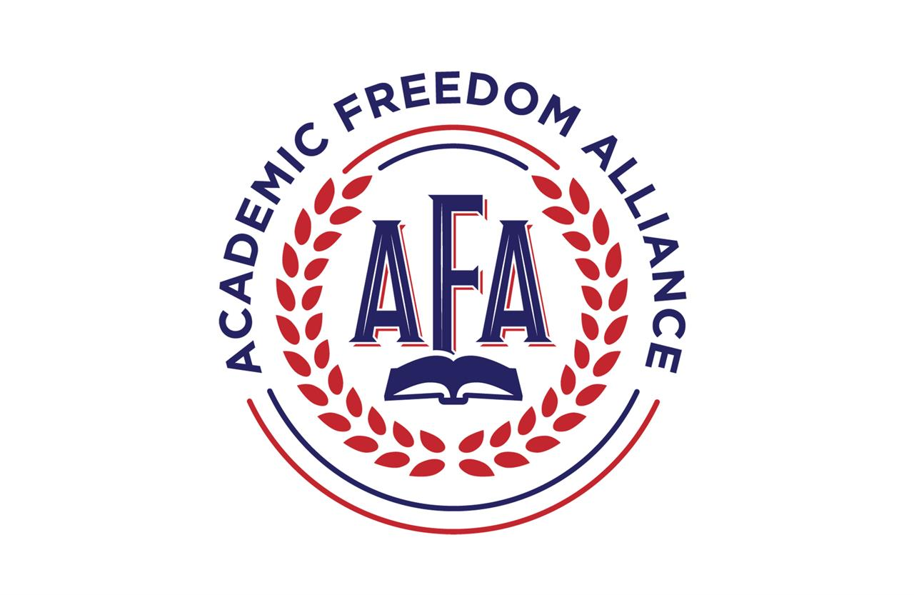 This image shows the logo for the newly formed Academic Freedom Alliance.  Launched Monday, the alliance arose out of discussions among some Princeton University faculty members over how to counter what they see as growing intolerance of differing viewpoints. (AFA via AP)